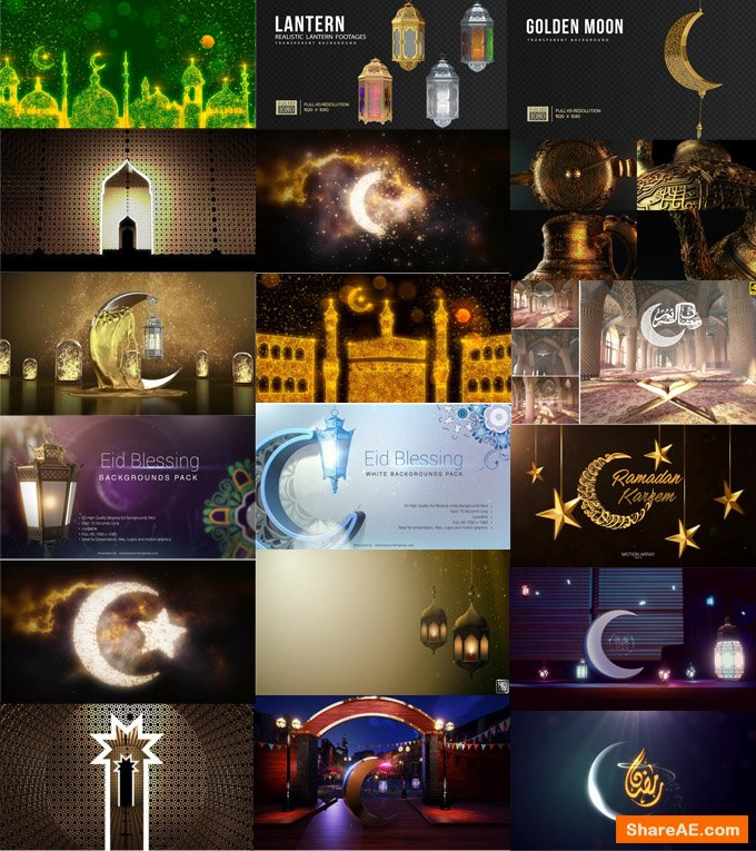 Ramadan Bundle After Effects And Motion Background (2019) » free